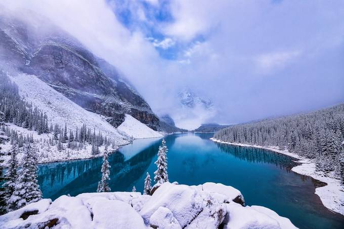 Snow at Moraine Lake by Bluesky25 - We Love The Winter Photo Contest
