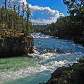 Yellowstone River in Wyoming in late summer.