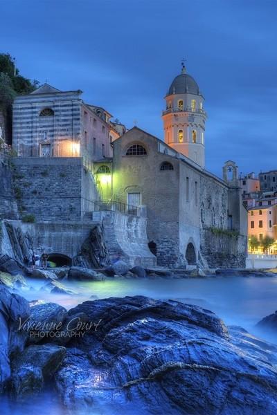 Blue Hour, Vernazza, Cinque Terra
