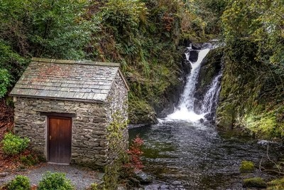 Rydal Grot and waterfall, Grasmere