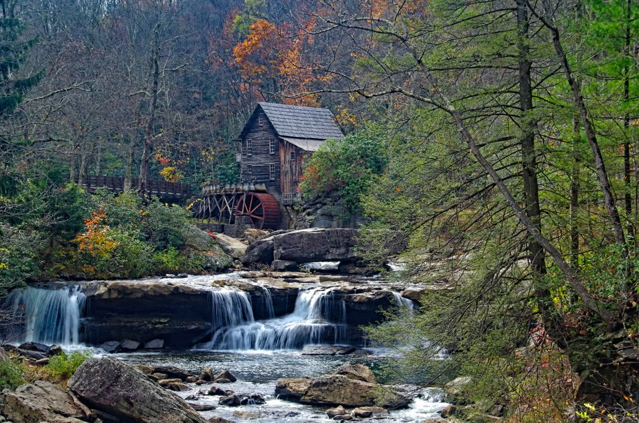 Old mill located at Babcock State Park