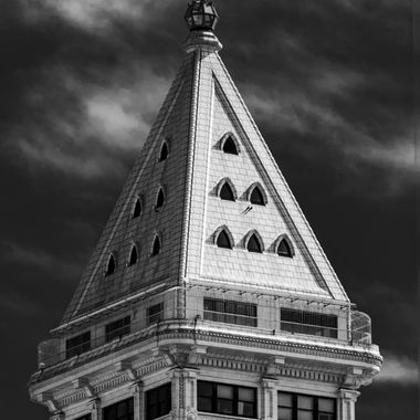 Smith Tower in Black and White