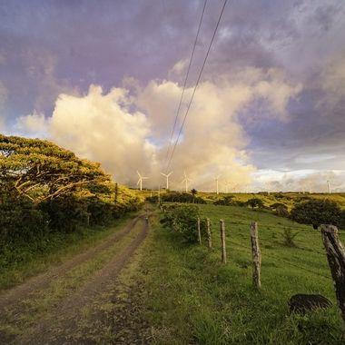 Tierras morenas parque de eolicas