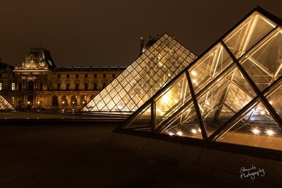 Two Louvre Pyramids