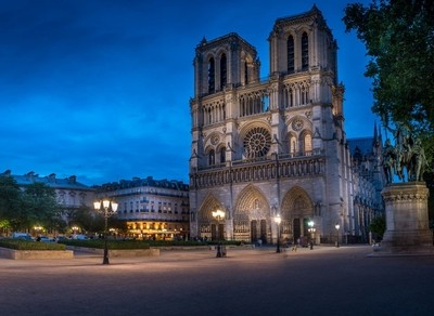 Notre Dame Blue Hour