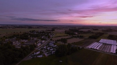 Drone Aerial Photo - Purple sunset