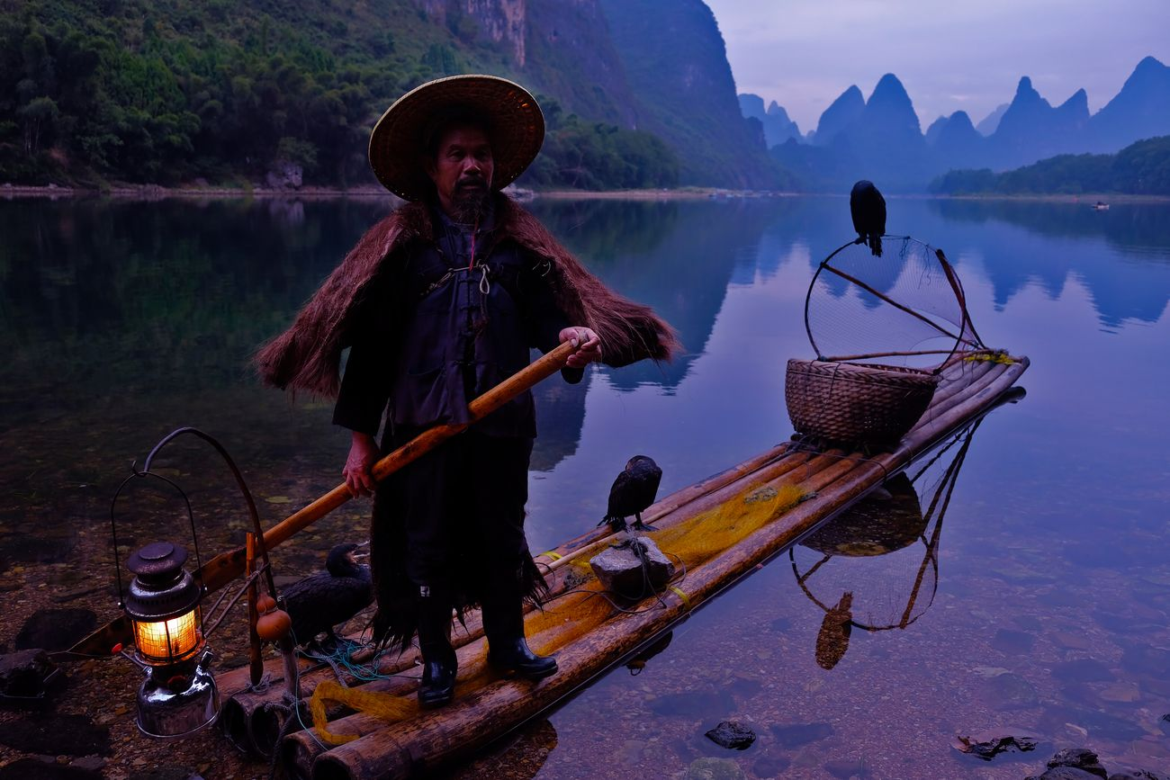 Cormorant fisherman in Yangshuo