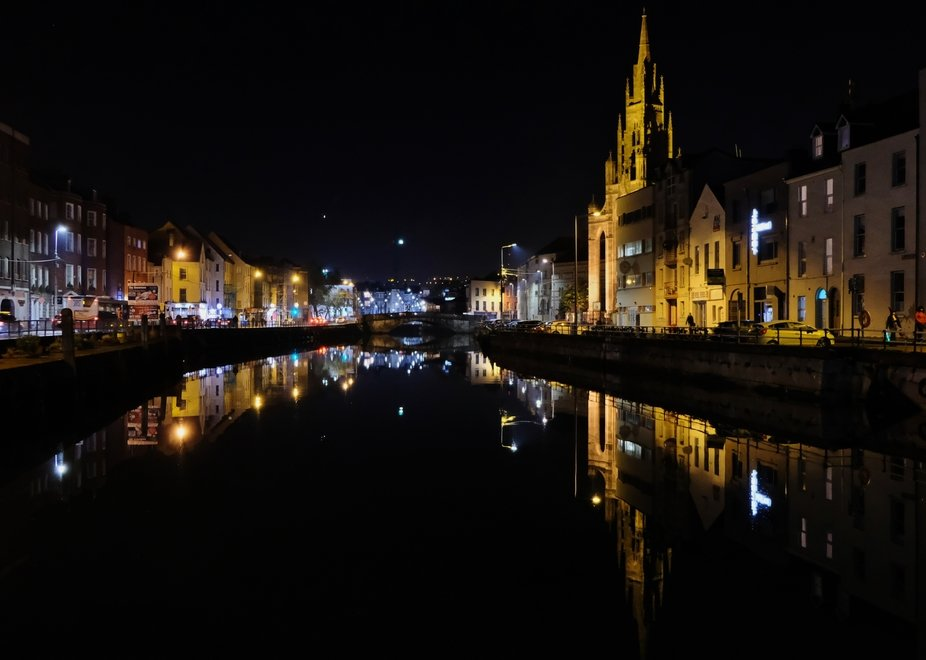 Triinity Church, Cork City, reflected in the River Lee