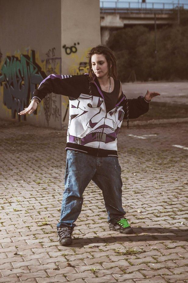 Street girl got the rhythm
