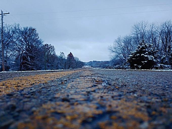 Route 66 2018 first snowfall by Route66Drones - Straight Roads Photo Contest