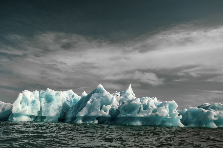 Since the 1970s, the melting glaciers have grown the Jökulsárlón lagoon to be four times large...