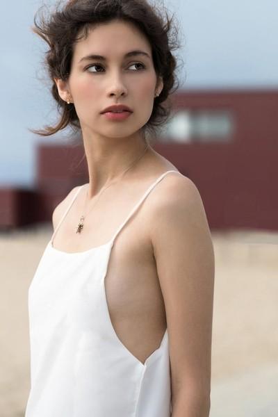 Jessica P :: White Beach Dress Close Up I