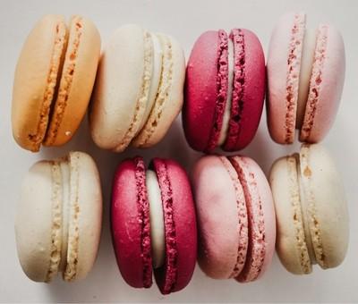 Pink macroons