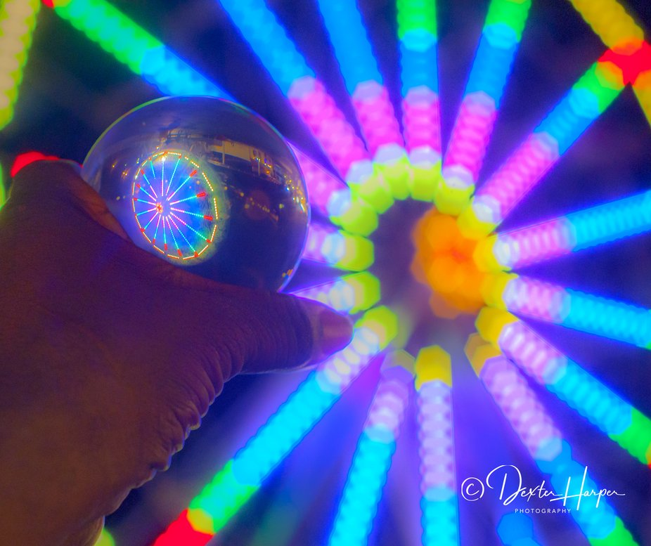 Visitation of the local amusement with crystal sphere