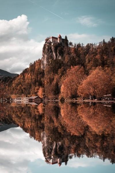 Bled Castle Reflection