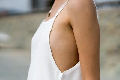 Jessica P :: White Beach Dress Close Up II