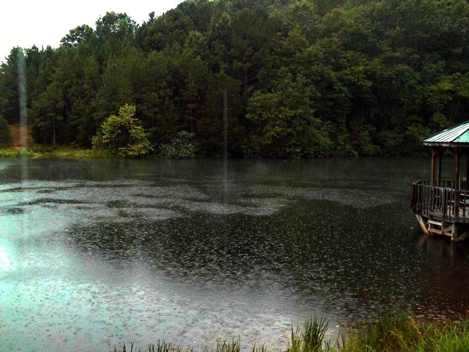 Rain on a Lake