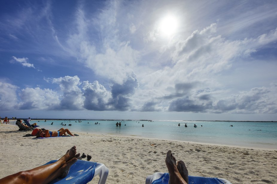 My wife and I enjoy Aruba very much. We visit Baby Beach often. This is a shot taken with my Cano...