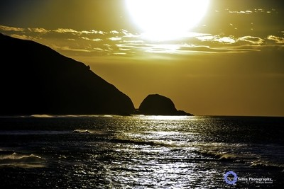 """Mugu Rock meets the Ocean"""