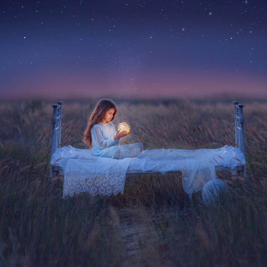 stars in her hands by olgamoskaltsova - Night Wonders Photo Contest
