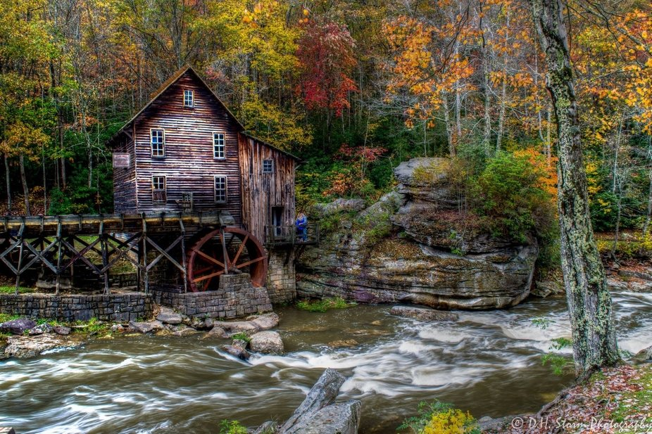 Fall at the Glade Creek Grist Mill
