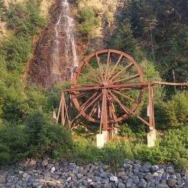 Built in 1893 by a minor names Charlie Taylor. The wheel was used to  power a mill at his gold mine. Donated to the city of Idaho Springs in 1946.