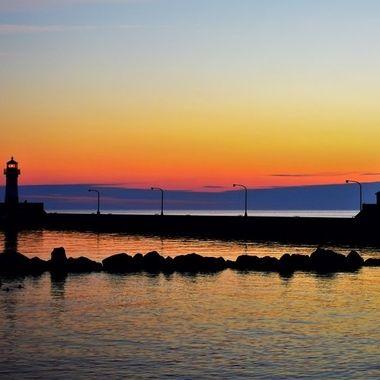 Canal Park Lake Superior D3400 Nikon 18-55 lens vivid