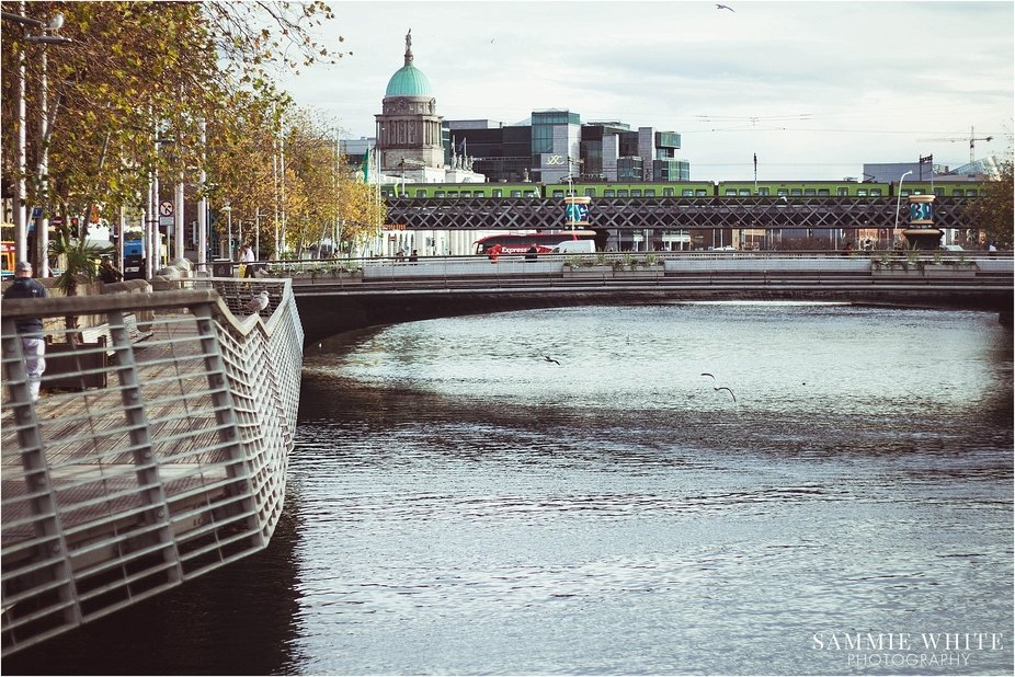 River Liffey running through central Dublin.