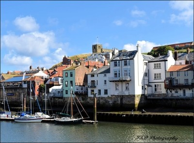 St Mary's Church from Whitby Harbour