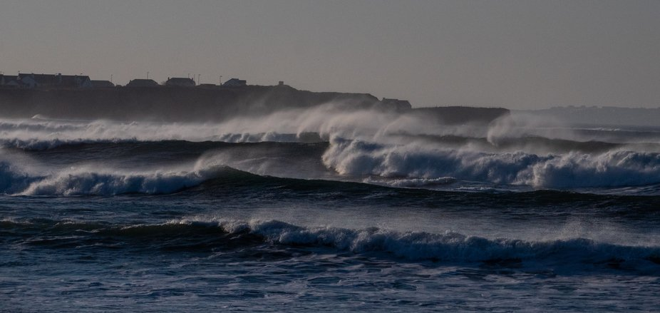 Massive waves pound the Donegal shores much to the delight of local surfers