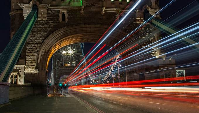 Tower Bridge Evening Lights by rogerbradshaw - Bright City Lights Photo Contest