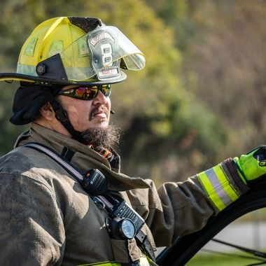 My husband and volunteer fire fighter