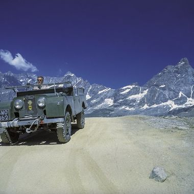 Maurizio Ortodossi Cervinia 2003  This very rare DIESEL 1957 Land Rover retired in the Italian Alps, where I had the pleasure to take it from various angles with my Pentax 6x7