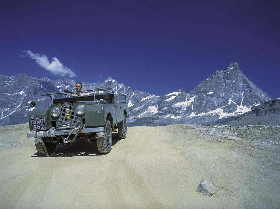 Maurizio Ortodossi Cervinia 2003  This very rare DIESEL 1957 Land Rover retired in the Italian A...