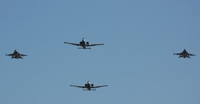 F16's and A10's Flyover