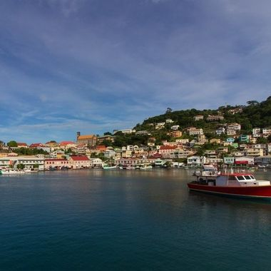 St Geoges Harbour, Grenada, taken from the Osprey ferry