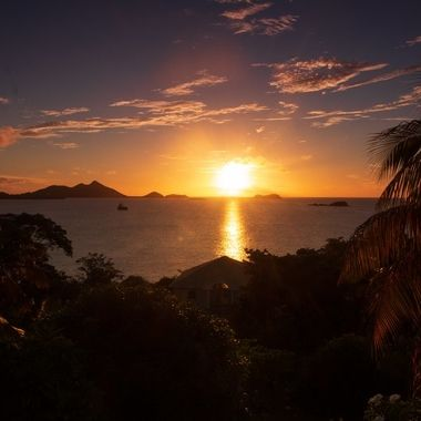 Caribean sunset on Carriacou, Grenada