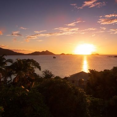 Carribean sunset from Craigstown, Carriacou, Grenada