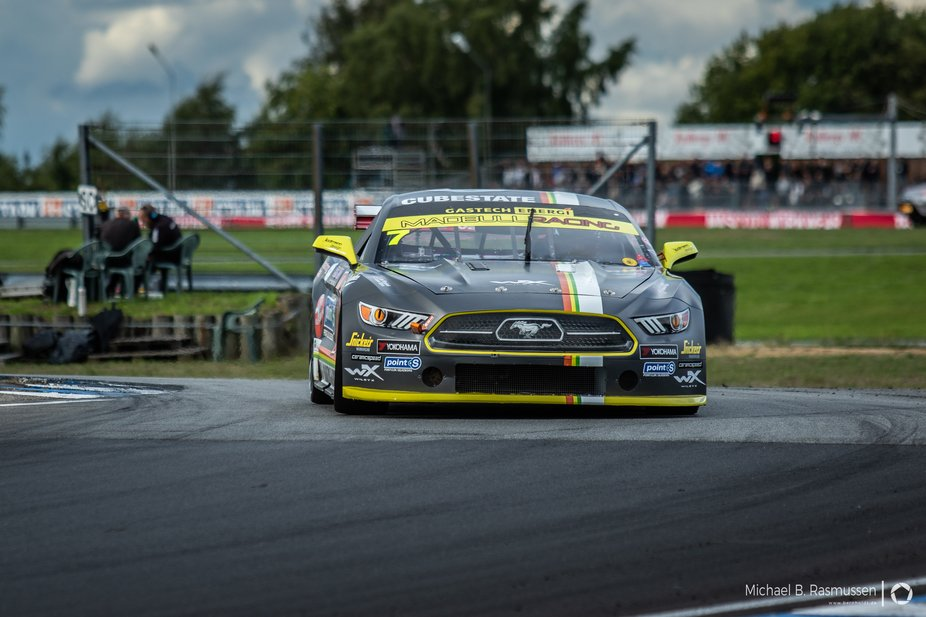 DTC (Danish Touring Championship) Mustang on racetrack Jyllandsring August 2018