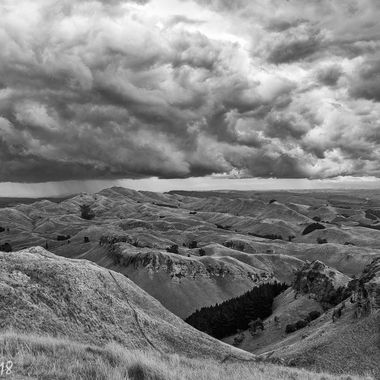 Over the hills and far away from Te Mata peak.
