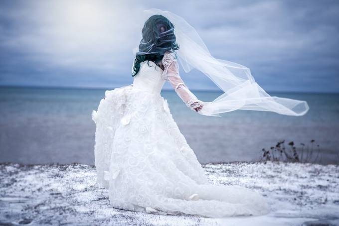 Fallout Bride by Amanda_Wakefield - We Love The Winter Photo Contest