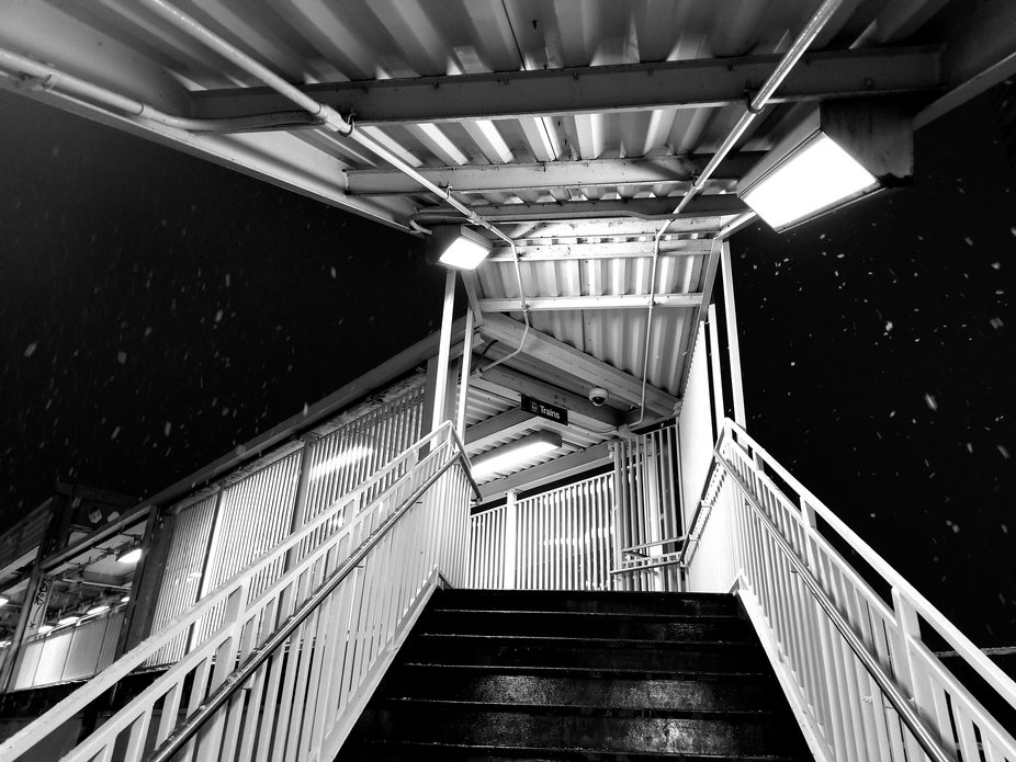 Taken with my phone at Western Blue line stop.