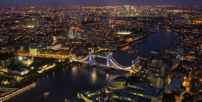 View from the Shard by mavisandroger - Bright City Lights Photo Contest