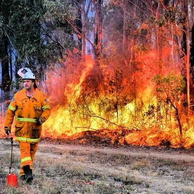 Where I once lived, in the Southern Highlands of New South Wales, Australia, the region is prone to bush fires. Here, the Rural Fire Service is carrying out a controlled burn of the undergrowth in 2016. This whole area had been reduced to ash in a vast devastating fire in 2001. My heart goes out to those in California.