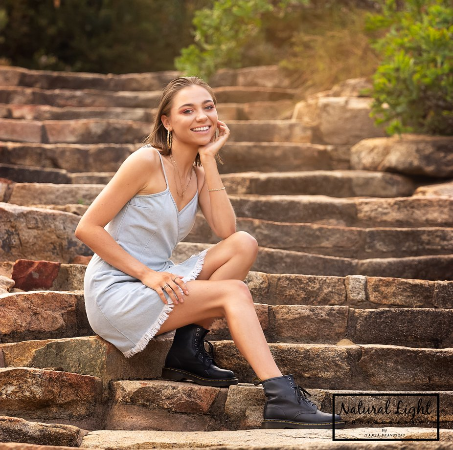 Beauty on the stairs