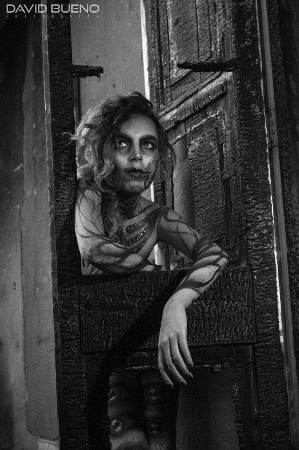 Sesión fotográfica en centro cultural Casa Quemada, con la temática de Halloween