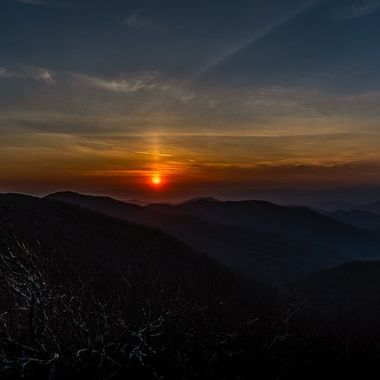 Sunset in the mountains ..