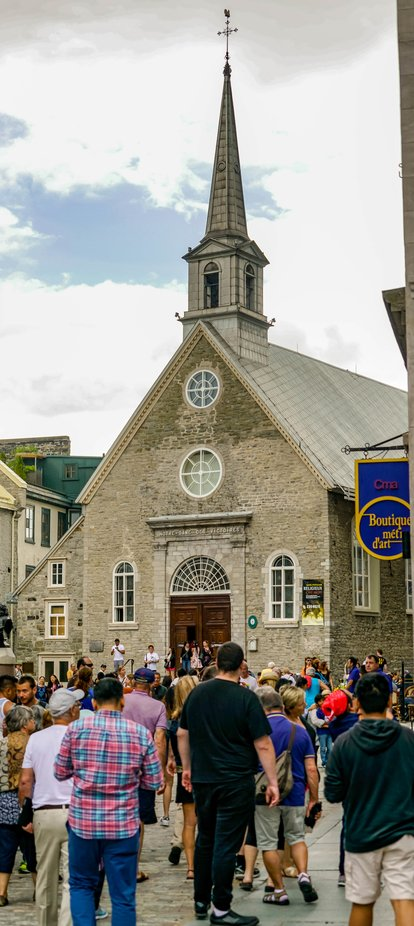 Situated in what is known as Old Quebec.  Built by the French settlers from stones they carried up from the St Lawrence River.