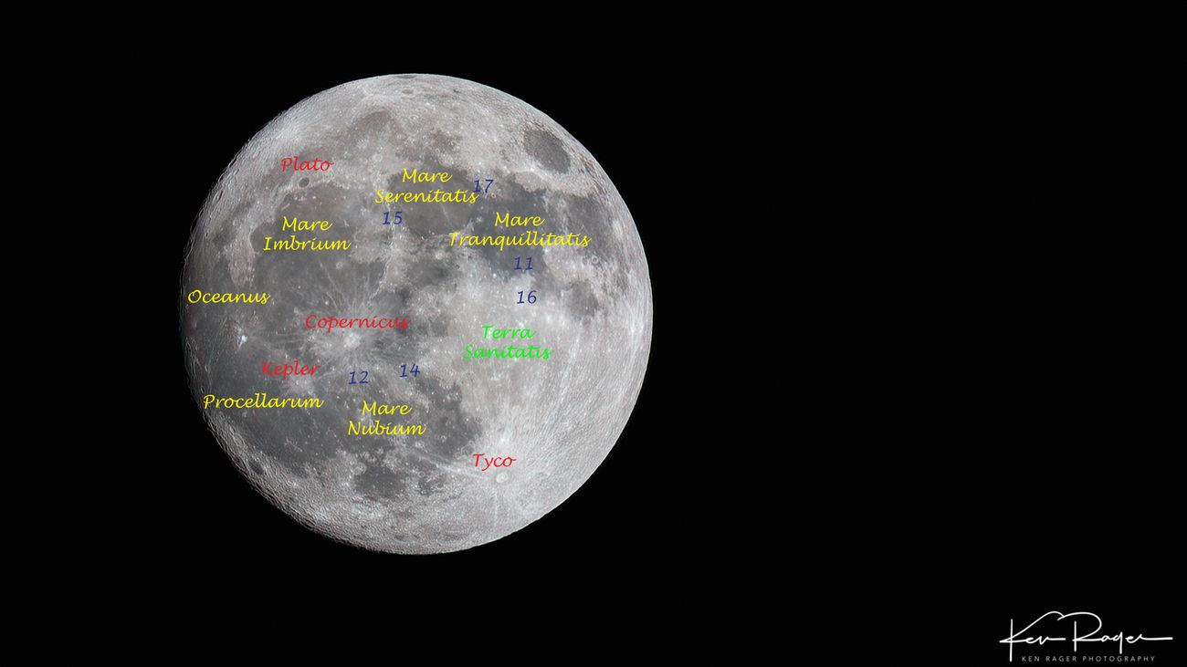Nice to know what you are looking at. The numbers are Apollo landing sites