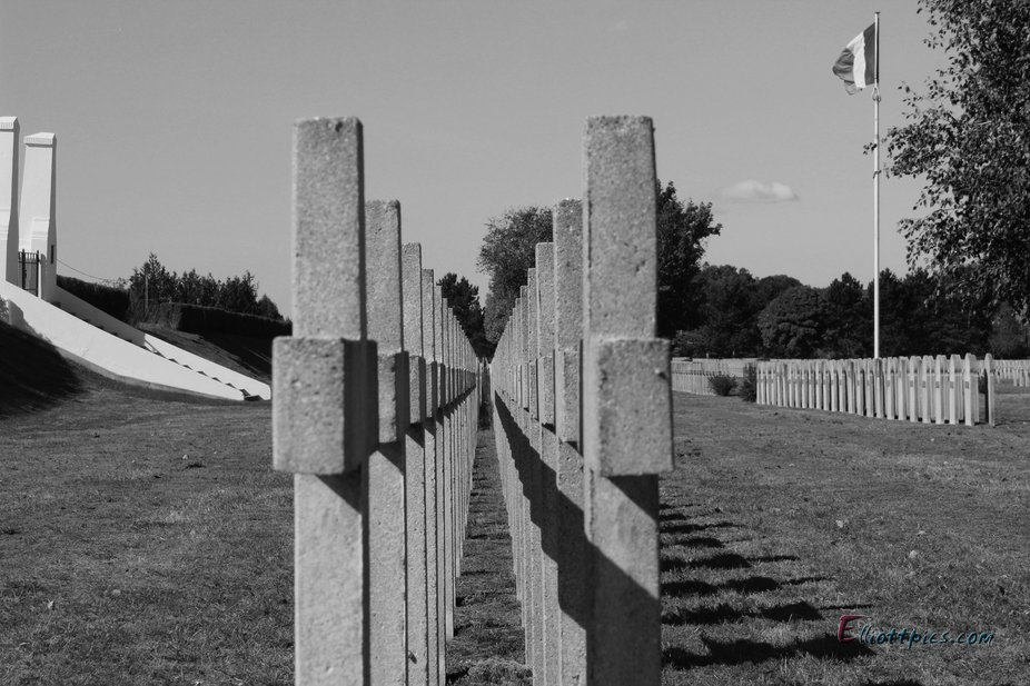 Taken in a French WW1 cemetery